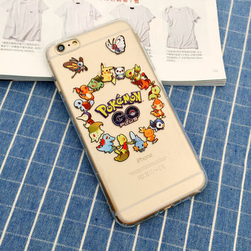 Pokemon Go Pokemon Phone Case For iPhone 7 7Plus 6 6s Plus 5 5s SE
