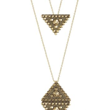 House of Harlow 1960 Jewelry Central Highlands Double Strand Reflection Necklace