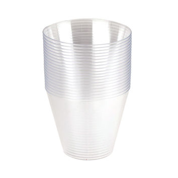 Clear Plastic Cups Tumbler 9 oz, 2-1/2-Inch, 20-Piece