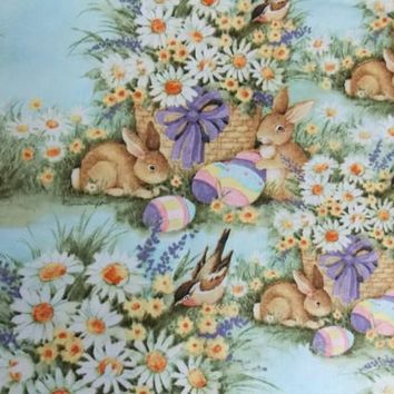 Easter Fabric Holiday Fabric Dress Fabric Skirt Fabric Easter Bunny Fabric Home Decor Fabric Pillow Fabric Craft Fabric Curtain Fabric