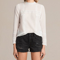 ALLSAINTS UK: Womens Acacia Top (Chalk White)