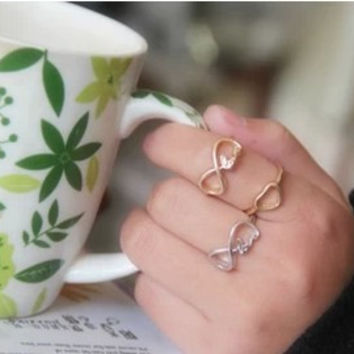 R153 Vintage Infinity Infinite Love Faith Dream Hope Letter Finger Rings, Jewelry