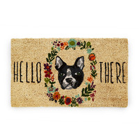 Fur and Flowers Dog Doormat | Doggy Welcome Mat