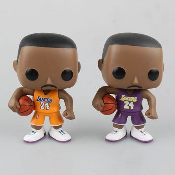 10cm Nba all-star Player Kobe Bryant Action & Toy Figures NBA Figure 2k Los Angeles Lakers Collection Model Toys For Children