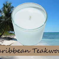 Caribbean Teakwood Scented Candle in Tumbler 13 oz