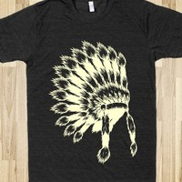 Indian headdress-Unisex Athletic Black T-Shirt