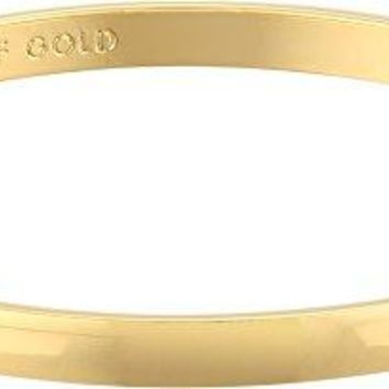 Kate Spade New York Idiom Collection Heart of Gold Bangle Bracelet, 7.75""