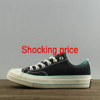 2018 Discount Women Converse Chuck Taylor All Star 1970s Low Black Blue 157562 newest sneaker