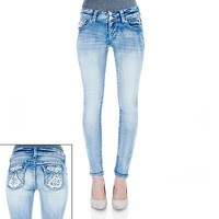 Wallflower Crochet Luscious Curvy Skinny Jeans - Juniors
