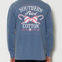 Southern Fried Cotton - Candy Cane Long Sleeve