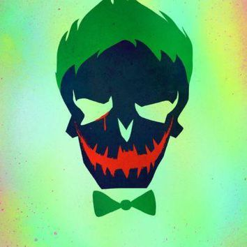 Joker Suicide Squad Icon poster Metal Sign Wall Art 8in x 12in