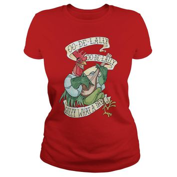 OO-De-Lally golly what a day tattoo watercolor painting Robin Hood shirt Premium Fitted Ladies Tee