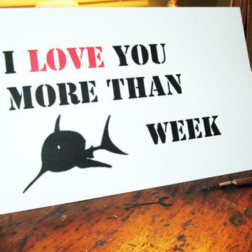 Nerd love greeting card I love you more than by InsomniaStudios