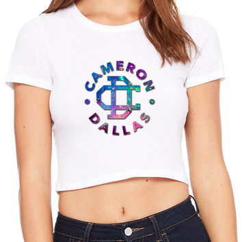 Cameron Dallas Galaxy Clip Crop T-shirt