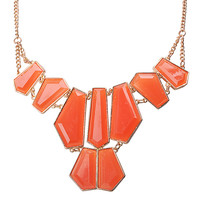 Trendy Irregular Geometric Bib Statement Necklace