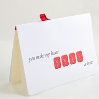 Geeky Valentines Card - Card For Wife -  Card For Husband - I love you Card - Girlfriend Card - Boyfriend Card - Periodic Table