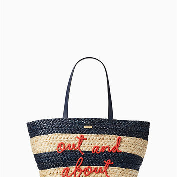 shore thing out and about straw tote | Kate Spade New York