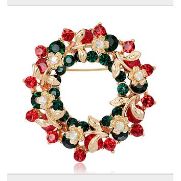 New fashionable Christmas gifts brooches bells wreaths