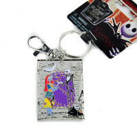 Jack & Sally Love Nightmare Before Christmas Keychain Keyring