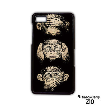 illustrations three wise monkeys wisdom for Blackberry Z10/Q10 phonecases