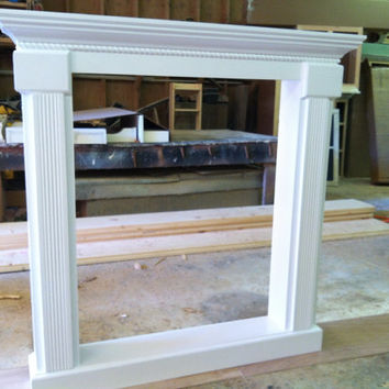 Full Fireplace mantel shelf - custom faux mantle
