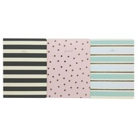 """Softcover Journals, College Ruled, 6"""" x 8"""" - Stripes and Polka Dots, Multicolor"""