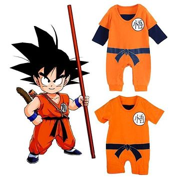 Dragon Ball Baby Rompers Newborn Boys Clothes SON GOKU Infant Jumpsuits Bebe Halloween Costumes Toddler Girls Clothing Set