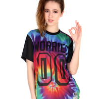 NO WORRIES MESH TEE