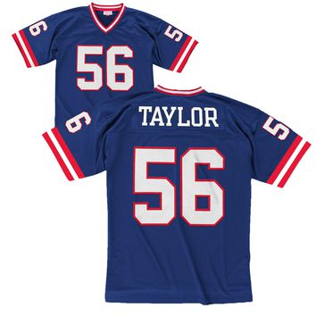 New York Giants Lawrence Taylor Mitchell & Ness 1986 NFL Throwback Home Replica Jersey