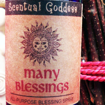 MANY BLESSINGS - All-Purpose Blessing Spray For Abundance Love Health Wealth Joy Peace Happiness