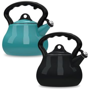 Remedy® Lovely Lady 2-Quart Porcelain Enamel Tea Kettles