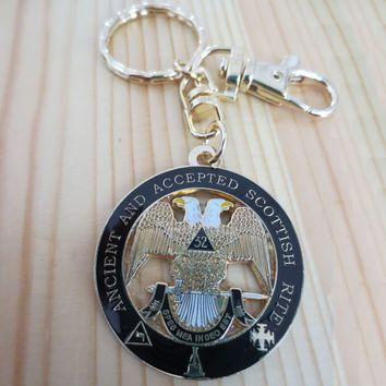 Ancient and Accepted Scottish Masonic Key Chain