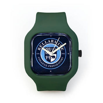 Bellarmine Seal Watch in a Deep Green Strap