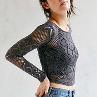 Out From Under Cutwork Crew Top - Urban Outfitters