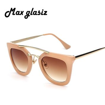 New 2016 classic designer plastic pink ladies brand designer eyewear female sunglasses for women Oculos de sol feminino
