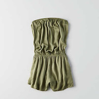 Don't Ask Why Strapless Romper, Olive