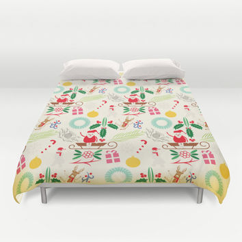 Christmas Duvet Cover, Pattern bedding, Christmas bedding, Xmas duvet cover, Bedding, Home Interior Decoration