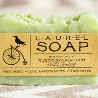 Laurel soap - Rustic Soap, All Natural Soap, Handmade Soap, Laurel Soap, Homemade Soap, Unscented Soap