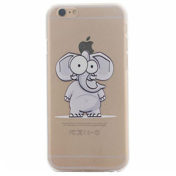 Funny Elephant Case Ultrathin Cover for iPhone 5se 5s 6s Plus Gift 41