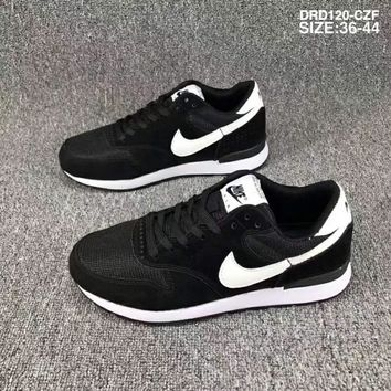 Nike Wmns & Internationalist Waffle series breathable mesh sneakers F-SSRS-CJZX Black