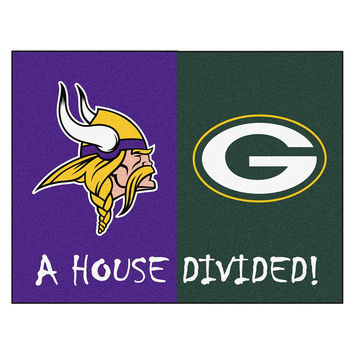 Minnesota Vikings - Green Bay Packers House Divided NFL All-Star Floor Mat (34x45)