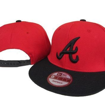 ESBON Atlanta Braves New Era MLB 9FIFTY Hat Red-Black