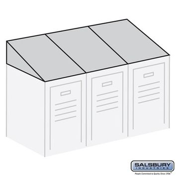 Salsbury Industries Sloping Hood - for up to (3) 12 Inch Wide and 18 Inch Deep Metal Lockers