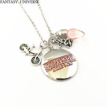 FANTASY UNIVERSE Free shipping 1pcs a lot Stranger Things Christmas Tree Lights charm necklaces KMSSKKI02