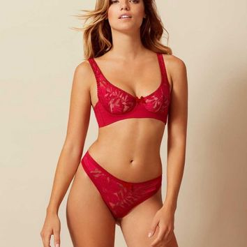 Audrey Bra Red
