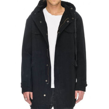 Shell Black Parka