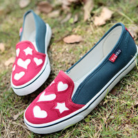 Embroidery Love Pattern Canvas Shoes
