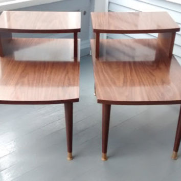 Superb One Vintage, End Table, Step Up, Mid Century, Danish Modern