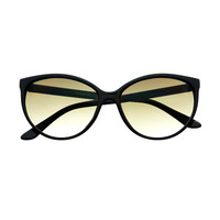 Glamorous Retro Inspired Womens Large Cat Eye Sunglasses C04