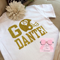Oversized Football Text T-Shirt College Monogram T-Shirt Custom TShirt Preppy Monogram Tee Over Size Text T-Shirt Monogrammed Gifts